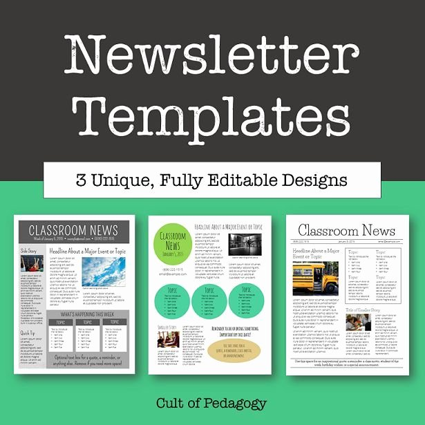 School Newsletter Templates Free Best Of why No E Reads Your Classroom Newsletter