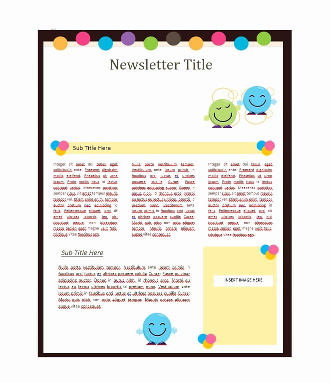 School Newsletter Templates Free Elegant 50 Free Newsletter Templates for Work School and Classroom