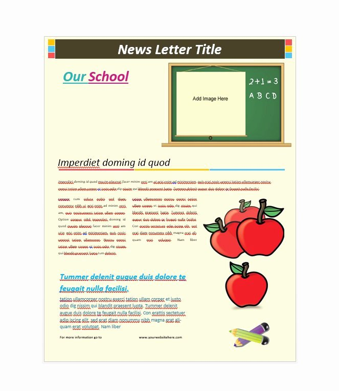 School Newsletter Templates Free Lovely 50 Free Newsletter Templates for Work School and