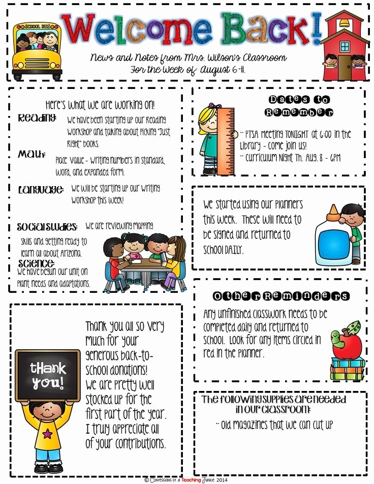 School Newsletter Templates Free Lovely School Newsletter Templates