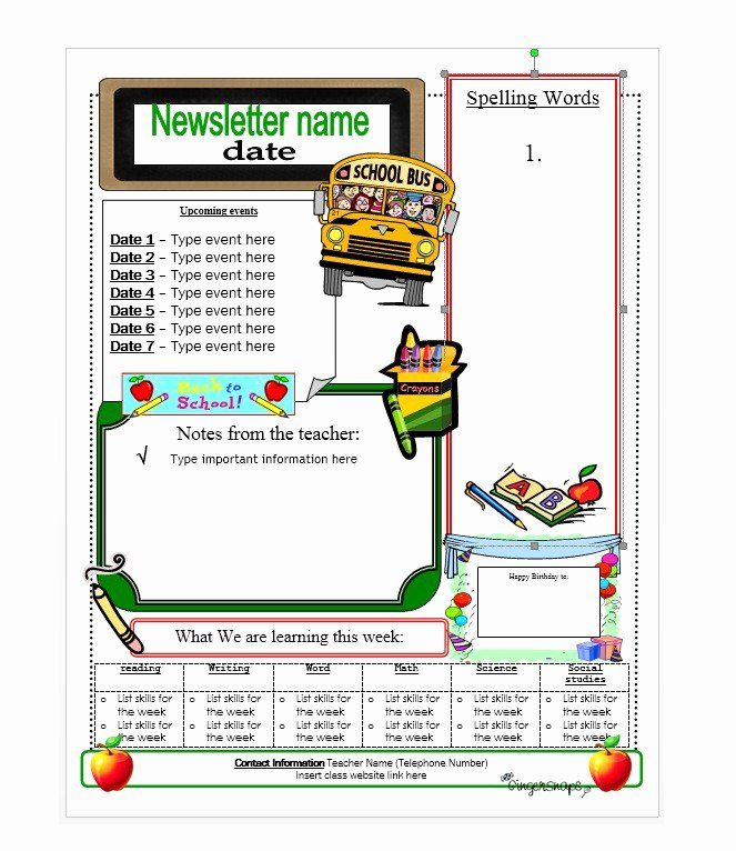 School Newsletter Templates Free Luxury 50 Free Newsletter Templates for Work School and