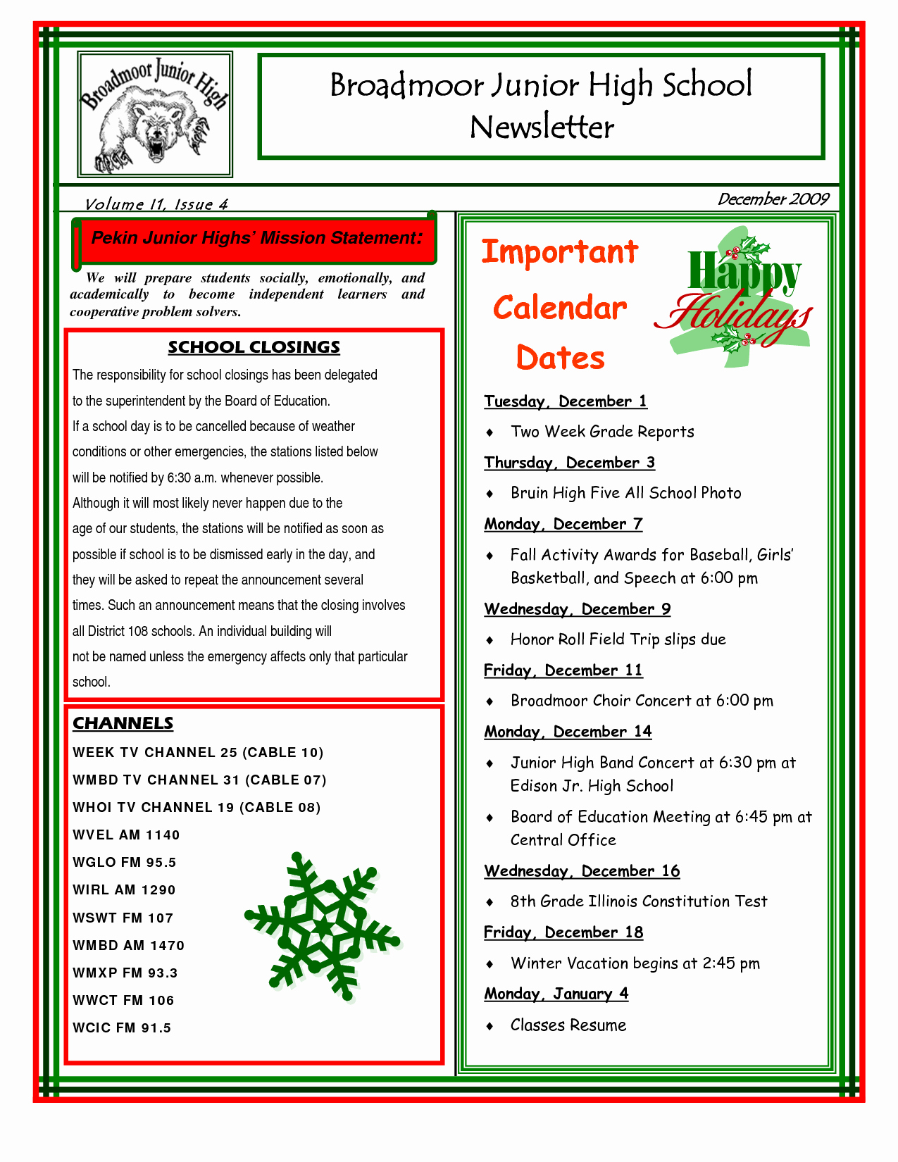School Newsletter Templates Free New 9 Best Of Sample School Newsletter Templates Free