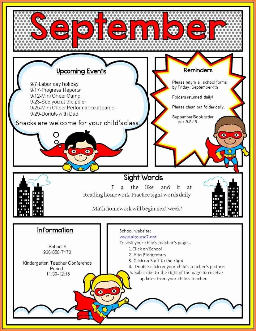 School Newsletter Templates Free New School Newsletter Templates