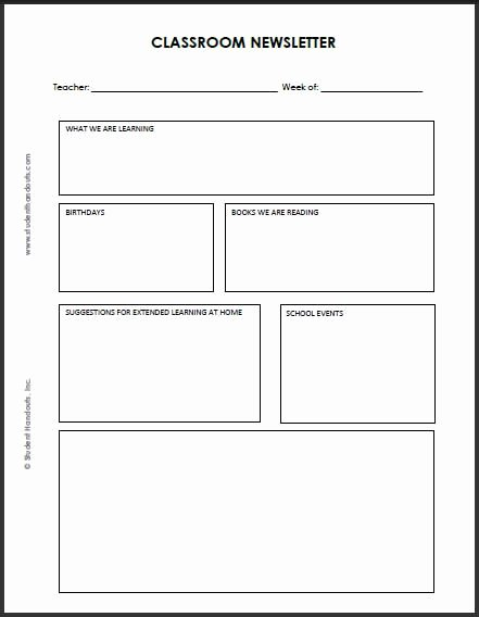 School Newsletter Templates Free Unique 92 Best Images About Classroom Newsletter On Pinterest