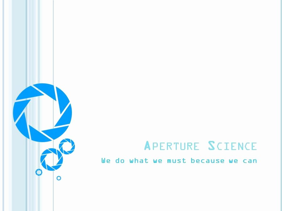Science Power Point Template Luxury Aperture Science Pp Template by Yoshemo On Deviantart