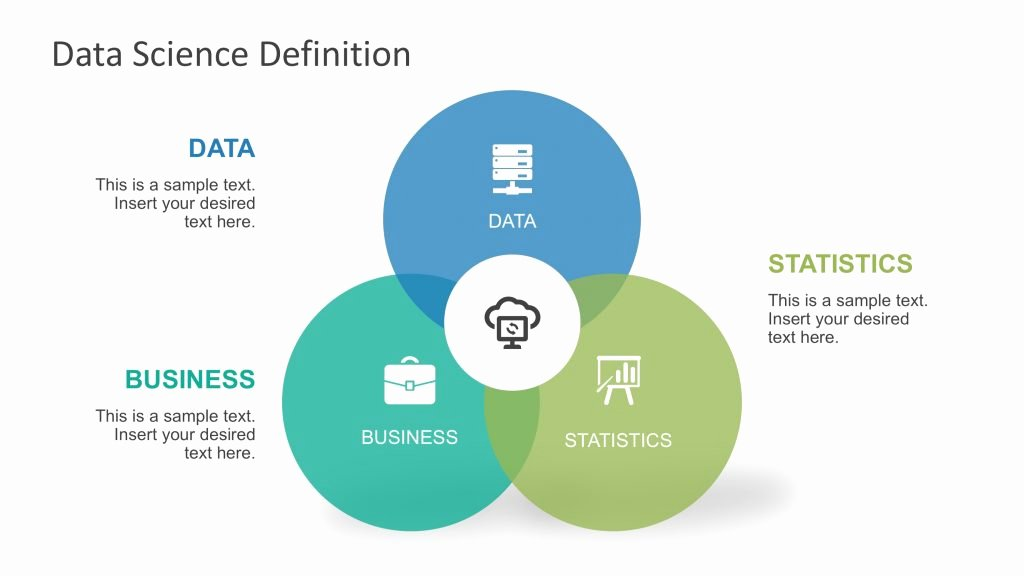 Science Power Point Template Luxury Powerpoint Venn Diagram Of Data Science Slidemodel