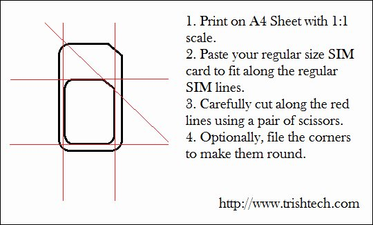 Sim Card Cutting Template Unique How to Cut Regular Sim Card Into Micro Sim Size