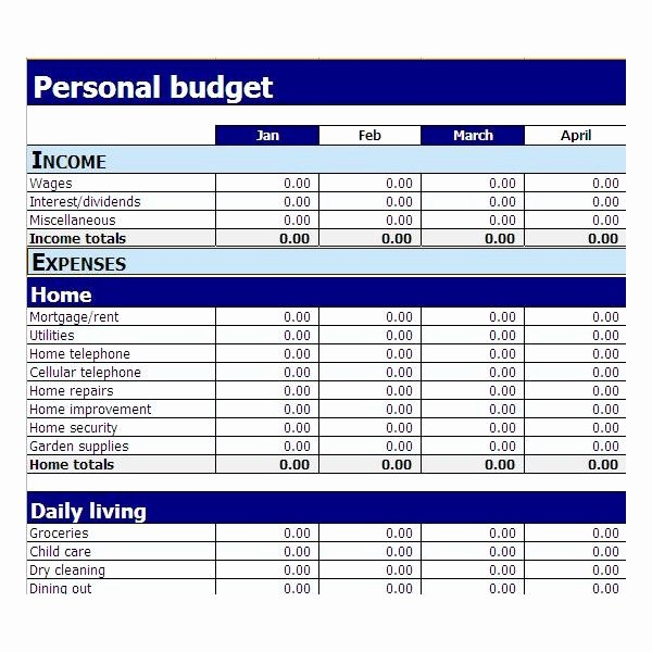 Simple Budget Template Excel Fresh Best S Of Microsoft Excel Personal Bud Worksheet