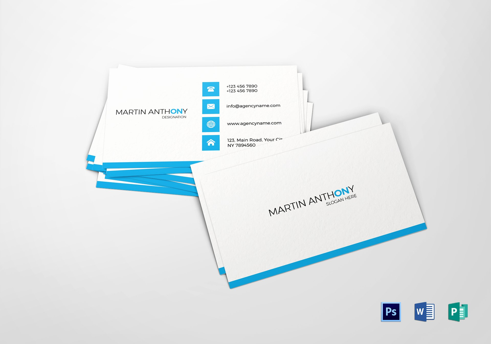 Simple Business Card Design Awesome Simple Business Card Design Template In Psd Word Publisher