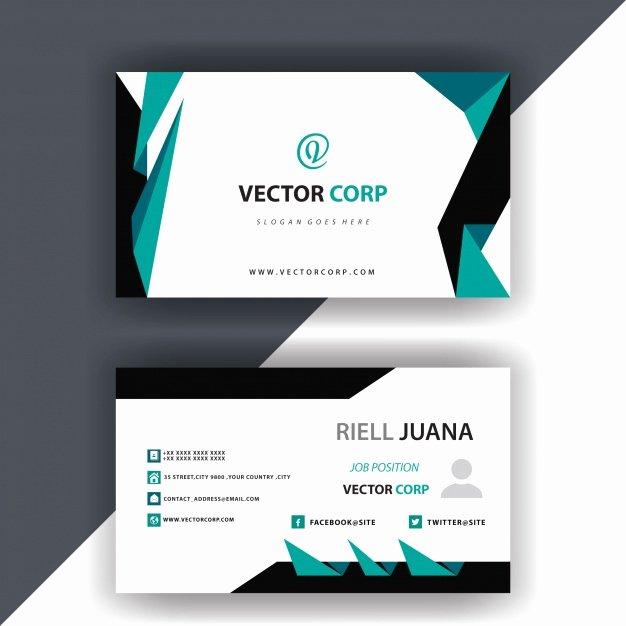 Simple Business Card Design Awesome Simple Business Card Design Vector