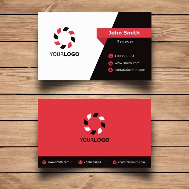 Simple Business Card Design Beautiful Simple Red Business Card Design Vector