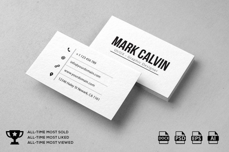 Simple Business Card Design Inspirational 14 Simple Minimal Business Card Templates Word Ai Psd