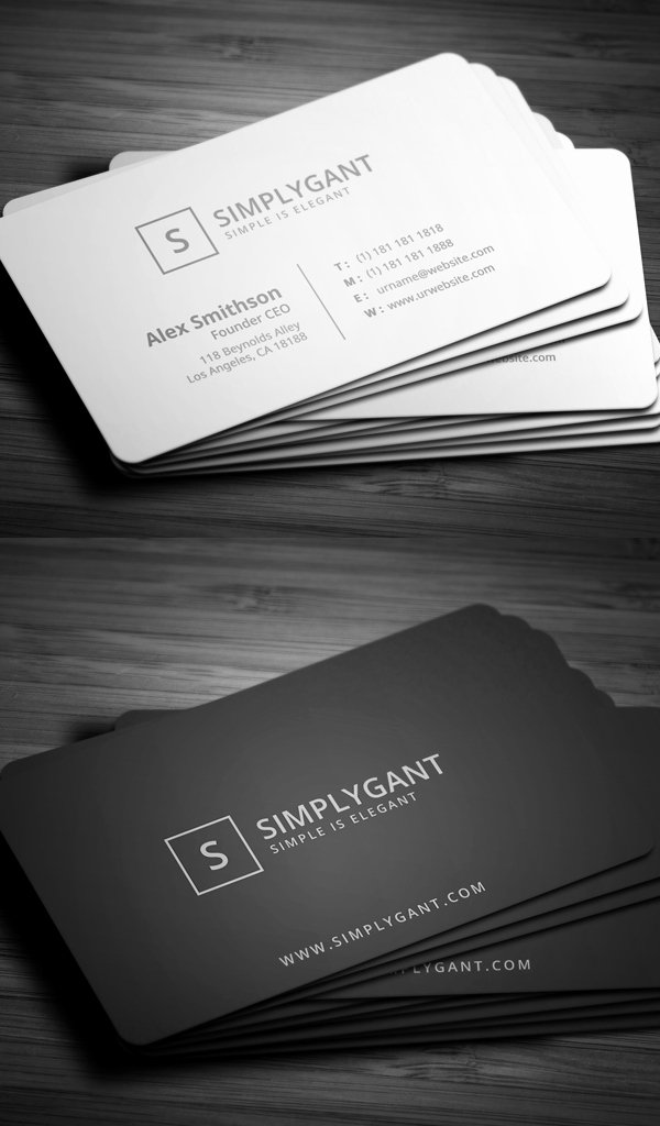Simple Business Card Design Lovely 30 Minimalistic Business Card Designs Psd Templates