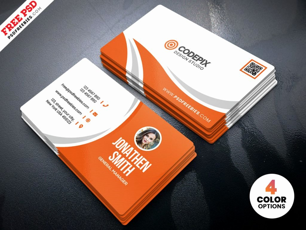 Simple Business Card Design New Simple Business Card Design Free Psd