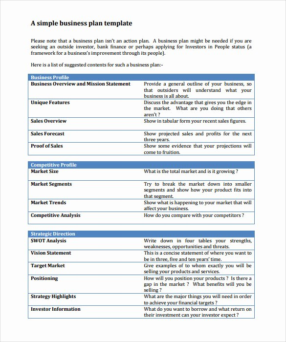 Simple Business Plan Outline Beautiful Sample Business Action Plan – 13 Examples In Word Pdf format