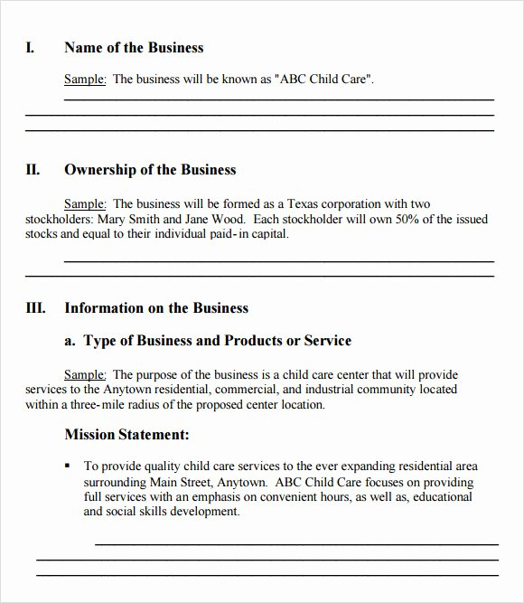 Simple Business Plan Outline Best Of Free 21 Simple Business Plan Templates In Pdf Word