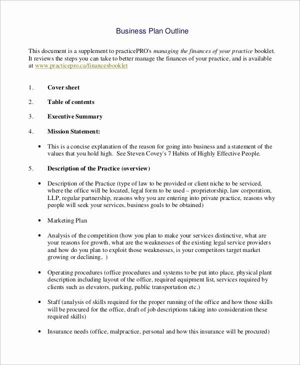 Simple Business Plan Outline Lovely Sample Business Plan Outline 21 Examples In Word Pdf
