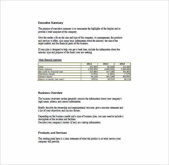 Simple Business Plan Outline Luxury Simple Business Plan Template 29 Free Sample Example