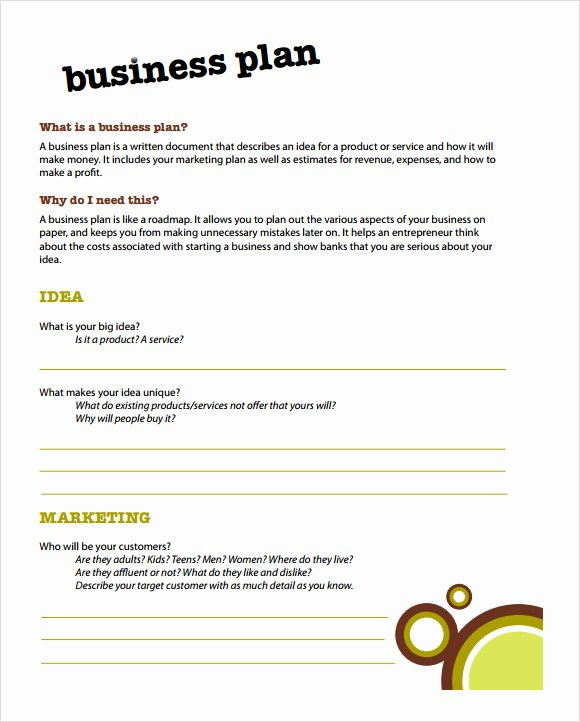 Simple Business Plan Outline Unique Free 21 Simple Business Plan Templates In Pdf Word
