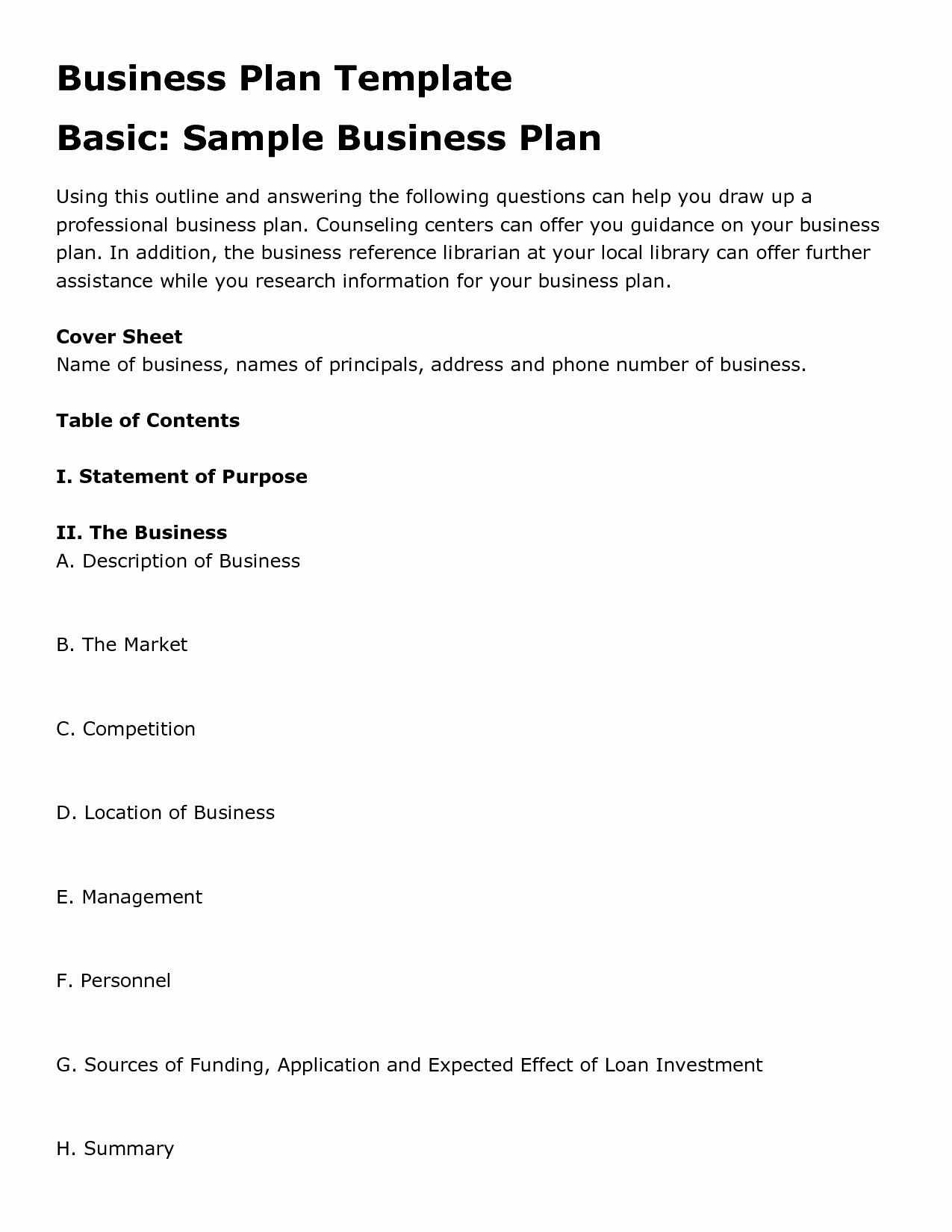 Simple Business Plan Outline Unique Simple Business Plan Design Entrepreneur