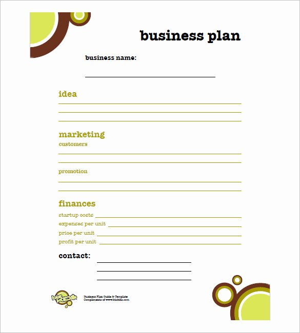 Simple Business Plan Outline Unique Simple Business Plan Template 29 Free Sample Example