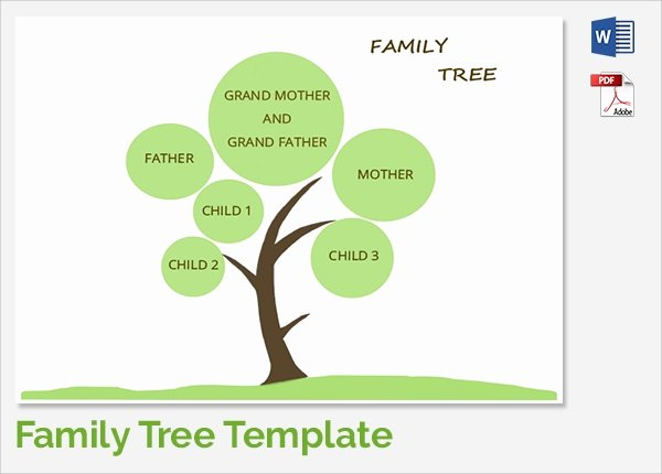 Simple Family Tree Template Awesome Sample Family Tree Chart Template 17 Documents In Pdf