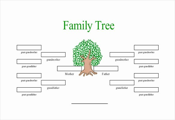 Simple Family Tree Template Best Of Simple Family Tree Template 25 Free Word Excel Pdf