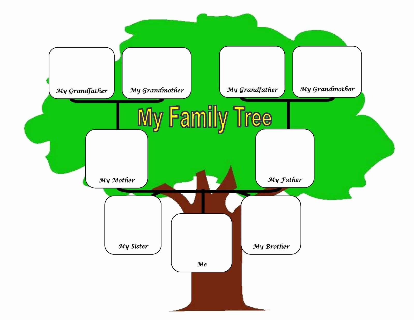 Simple Family Tree Template Elegant Family Tree Fotolip Rich Image and Wallpaper