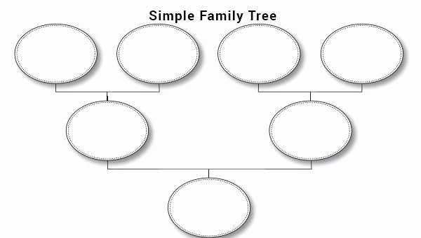 Simple Family Tree Template Elegant Family Tree Template