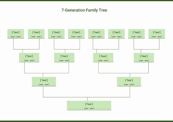 Simple Family Tree Template Elegant Simple Family Tree Template 27 Free Word Excel Pdf