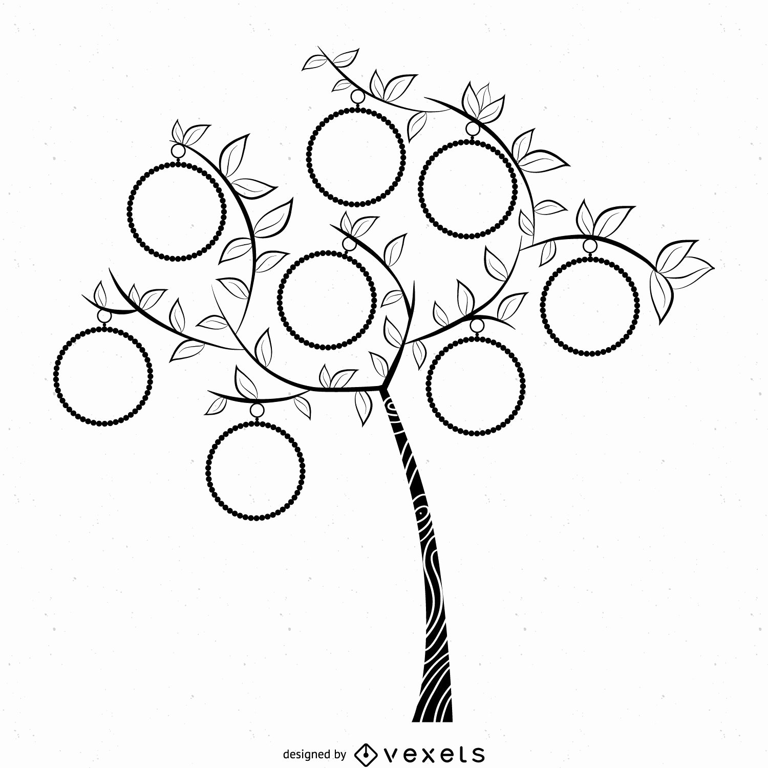 Simple Family Tree Template Inspirational Simple B&w Family Tree Template Vector