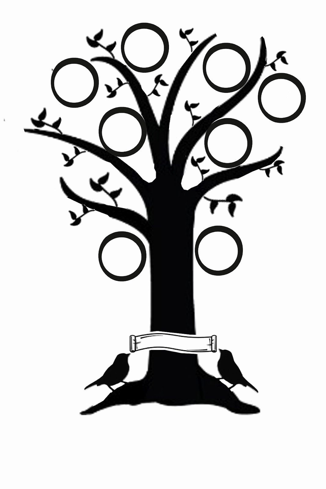 Simple Family Tree Template Inspirational Tree Template Printable Clipart Best