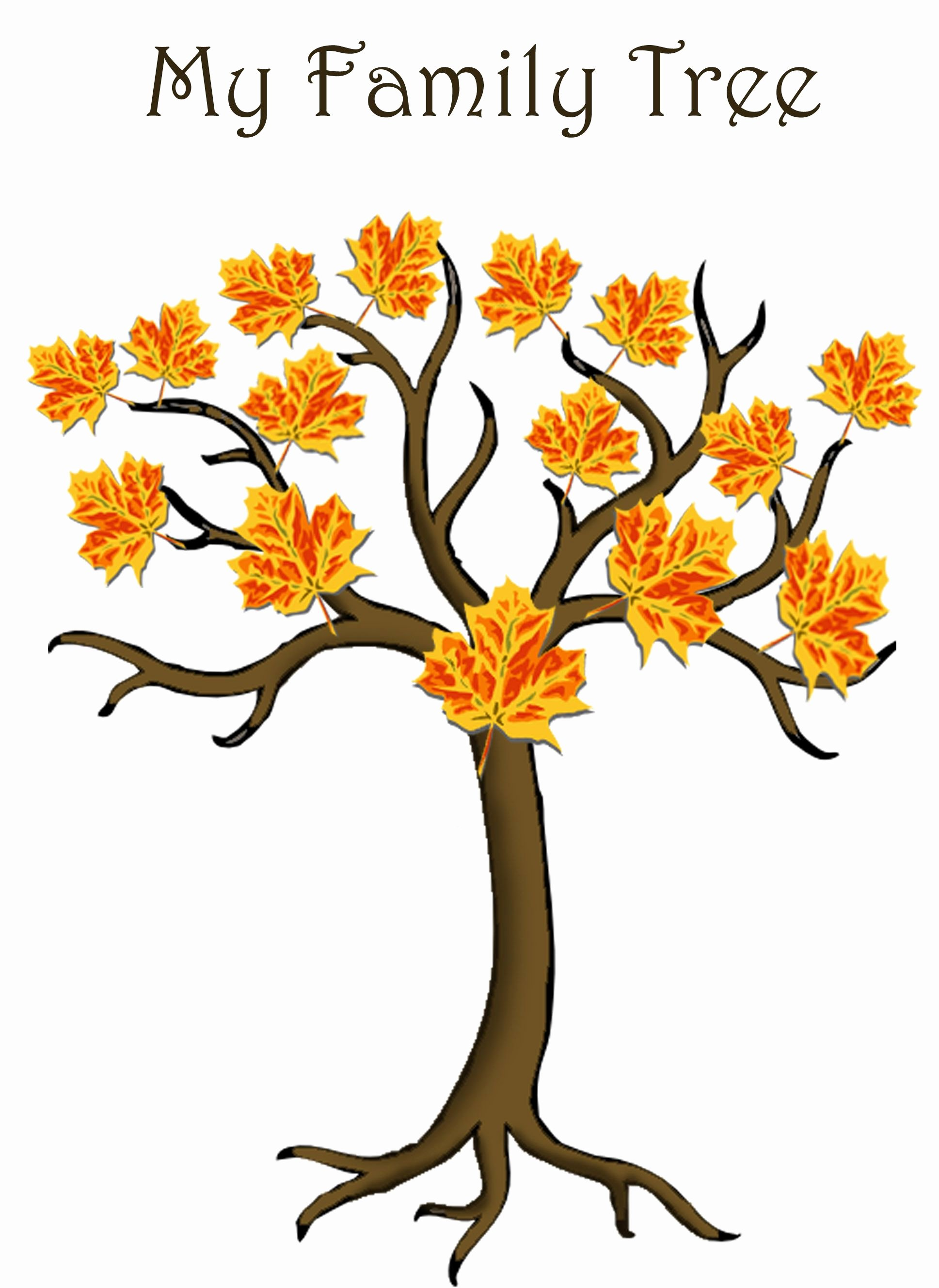 Simple Family Tree Template New Simple 4 Generations Family Tree Template for Children to