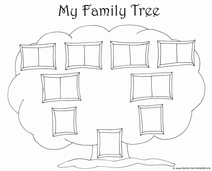 Simple Family Tree Template New Simple Family Chart to Color