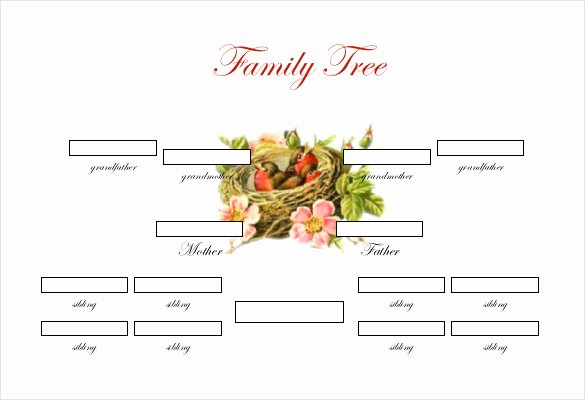 Simple Family Tree Template New Simple Family Tree Template 25 Free Word Excel Pdf