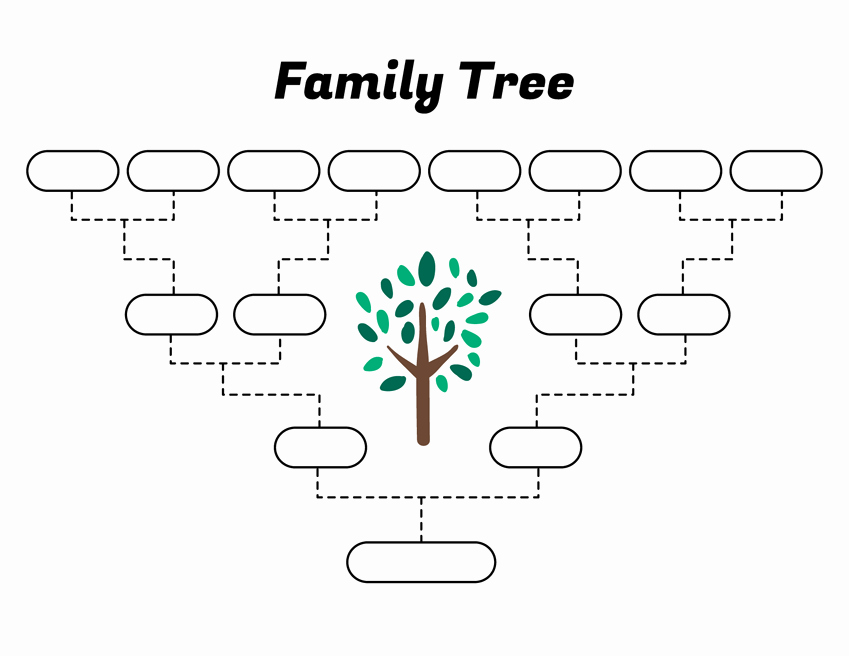Simple Family Tree Template New Simple Family Tree Template – Free Family Tree Templates