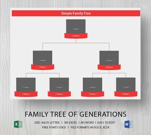 Simple Family Tree Template Unique Simple Family Tree Template 25 Free Word Excel Pdf
