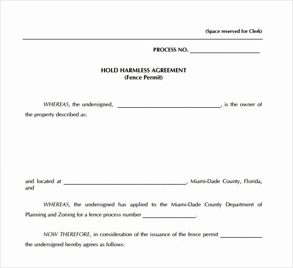Simple Hold Harmless Agreement Beautiful Independent Contractor Agreement Template