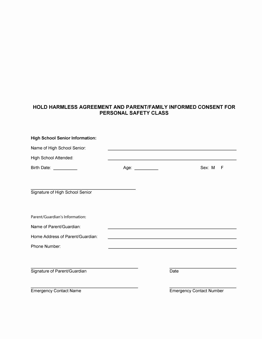 Simple Hold Harmless Agreement Best Of 40 Hold Harmless Agreement Templates Free Template Lab