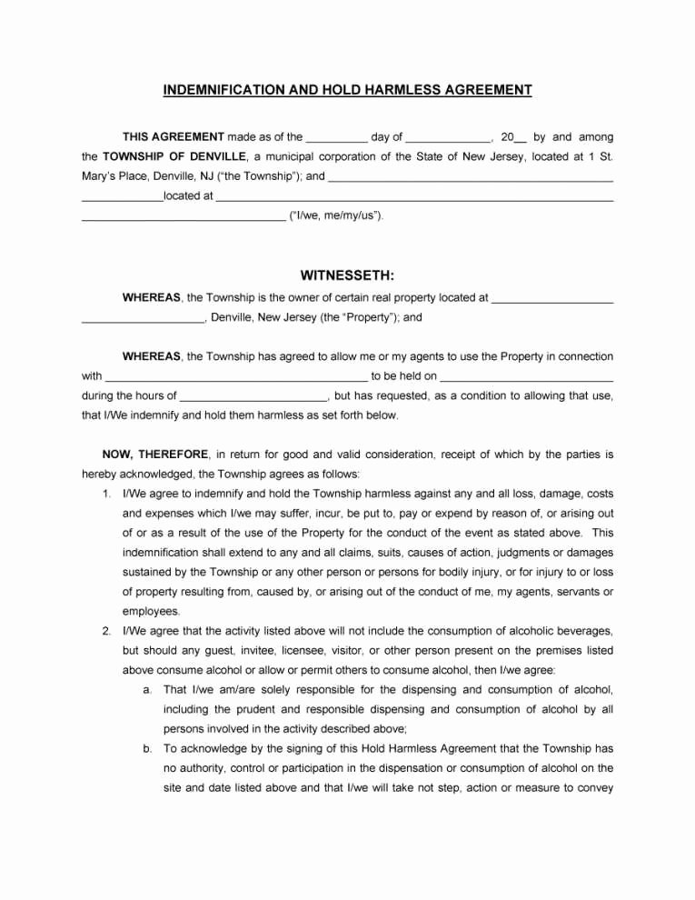 Simple Hold Harmless Agreement Best Of Equine Hold Harmless Agreement Template Plete Simple