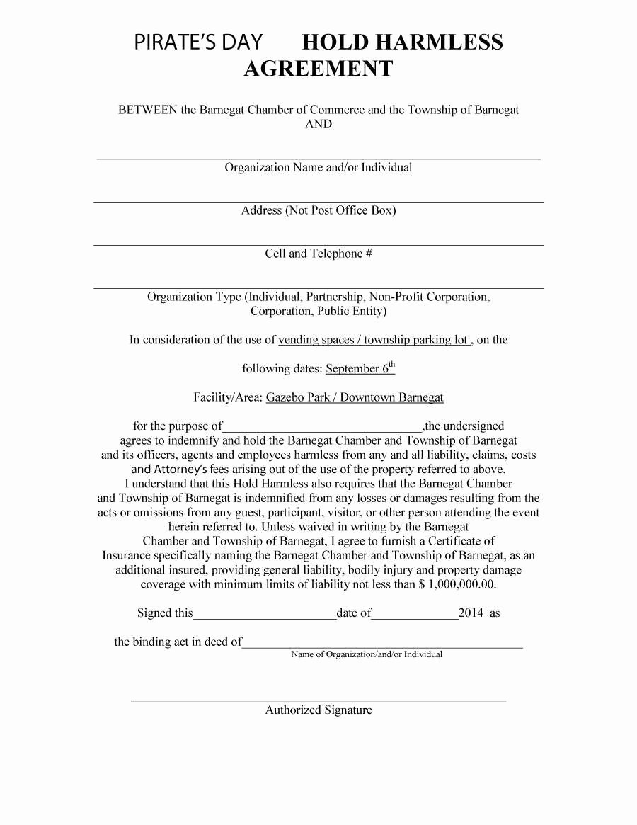 Simple Hold Harmless Agreement Lovely 50 Detail Rv Park Rental Agreement Template Yi H3541