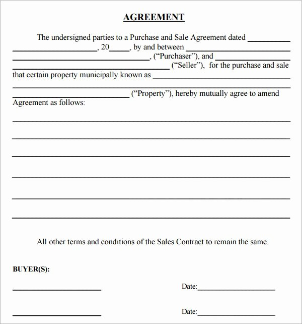 Simple Home Purchase Agreement Beautiful Simple Land Purchase Agreement form
