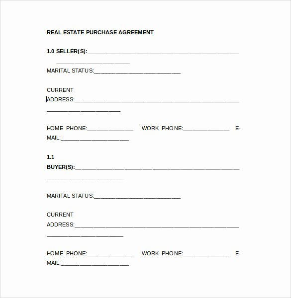 Simple Home Purchase Agreement Lovely Real Estate Purchase Agreement Samples Templates