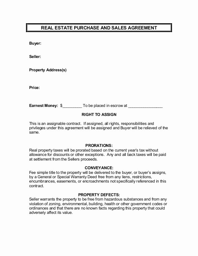 Simple Home Purchase Agreement Unique Real Estate Purchase and Sales Agreement [parachute]