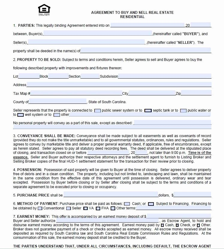 Simple Land Purchase Agreement form Elegant 47 Simple Property Purchase Agreement form Io H
