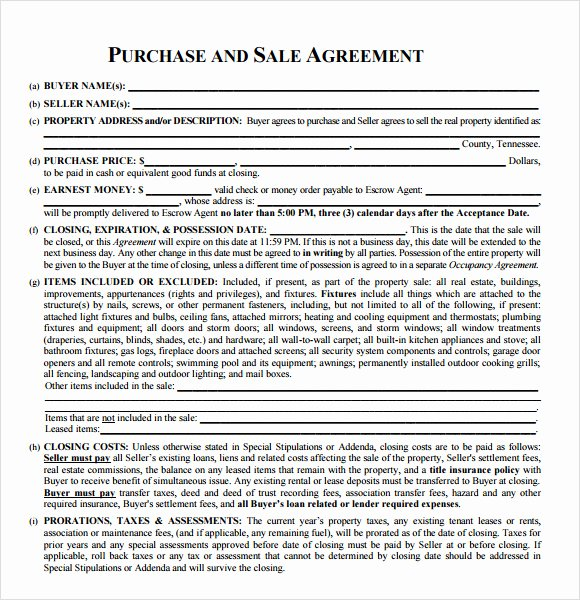 Simple Land Purchase Agreement form Fresh Sample Real Estate Purchase Agreement 7 Examples format