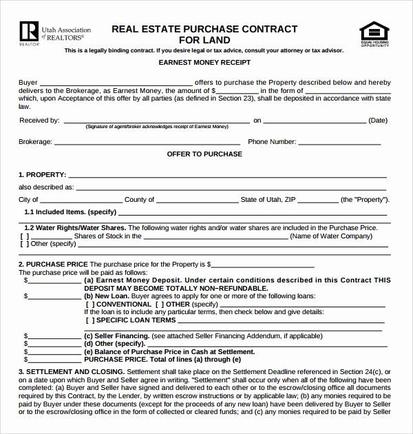 Simple Land Purchase Agreement form Luxury Free 14 Sample Real Estate Purchase Agreement Templates