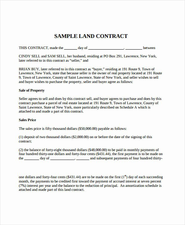 Simple Land Purchase Agreement form Luxury Simple Land Purchase Agreement form