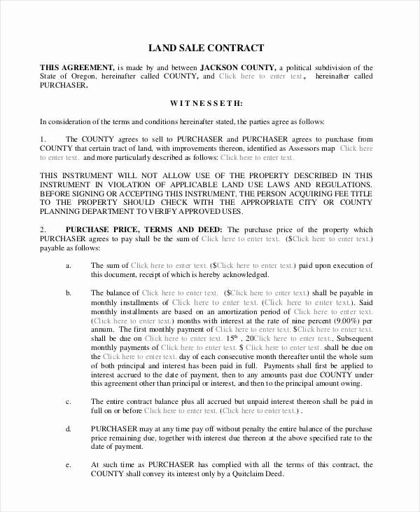 Simple Land Purchase Agreement form New 8 Land Contract Samples & Templates In Pdf Word