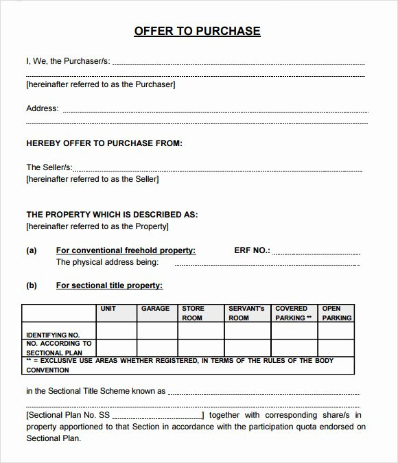 Simple Land Purchase Agreement form Unique Free 9 Sample Fer to Purchase Real Estate forms In Pdf